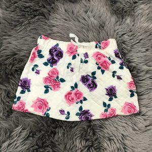 Toughskins | Girl's Skirt | White | Floral | 3T